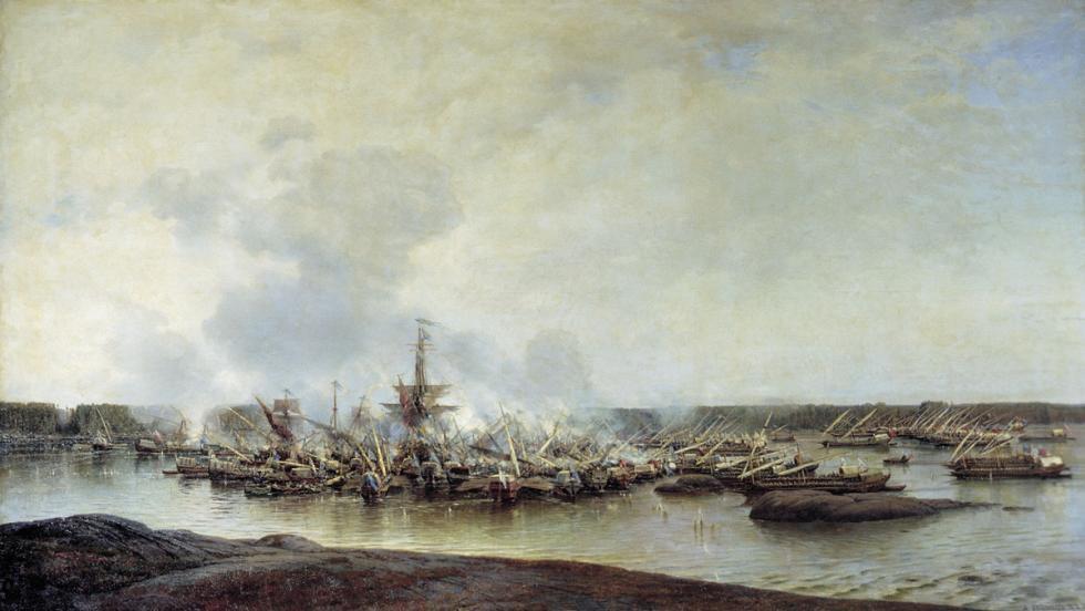 甘古特之战 。图片来源:Central Naval Museum