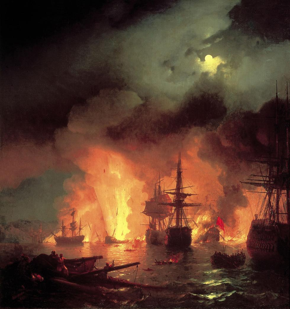 切斯马之战 。图片来源: Feodosia National Gallery