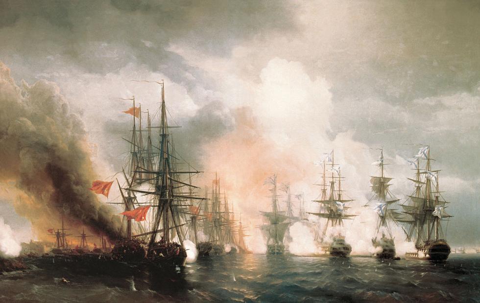 锡诺普战役 。图片来源: Central Naval Museum