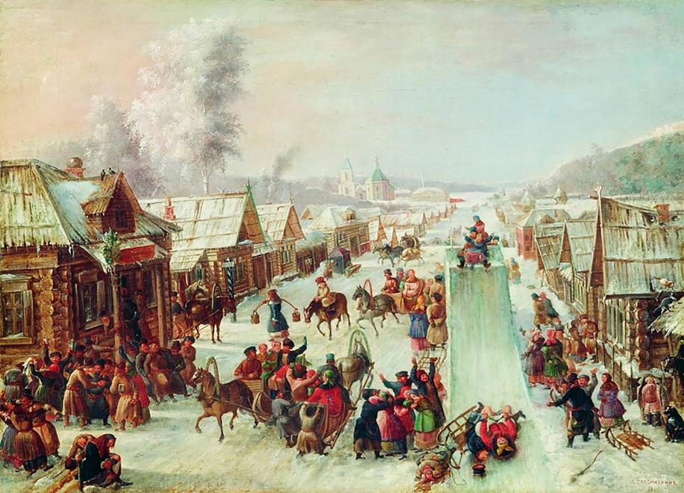 L. Solomatkin,谢肉节,1878年。图片来源:公开来源