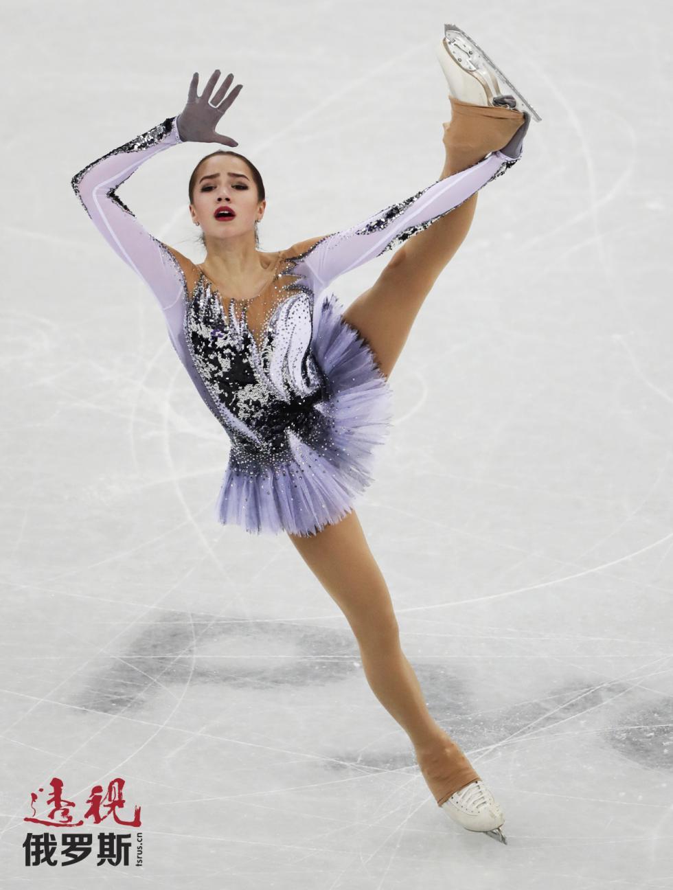 俄罗斯花滑选手阿琳娜·扎吉托娃。图片来源:AP