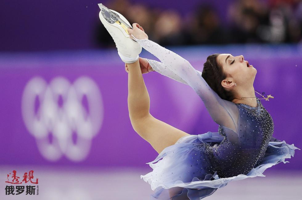 俄罗斯花滑选手叶夫根尼娅·梅德韦杰娃。图片来源:路透社