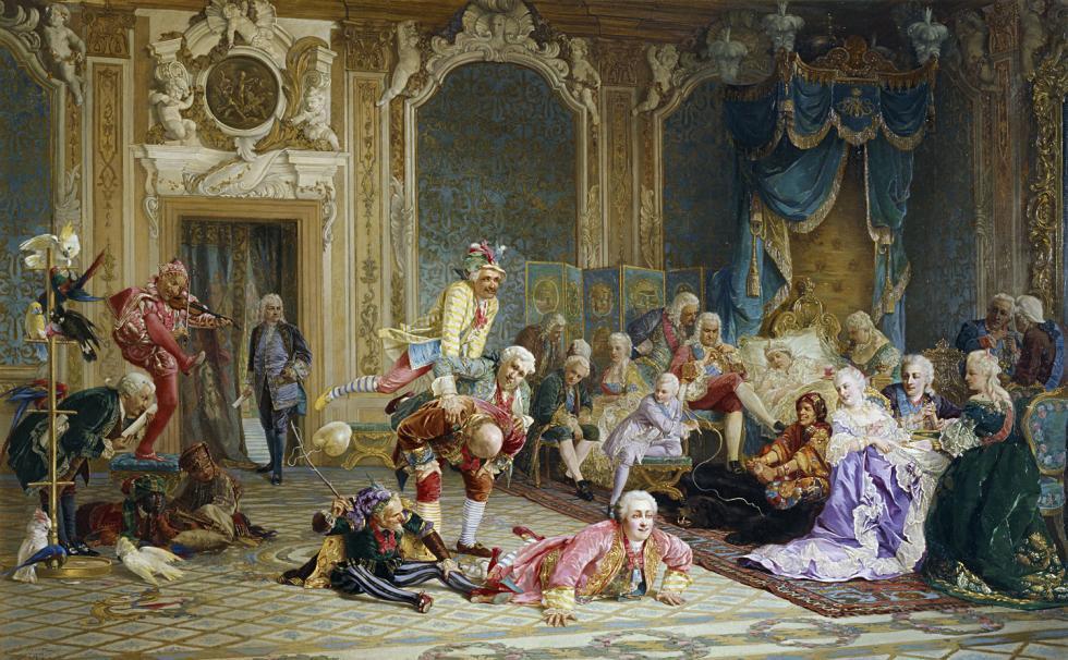 《女皇安娜宫廷中的弄臣》,瓦列里·雅各比(Valery Jacobi)。图片来源:State Tretyakov Gallery
