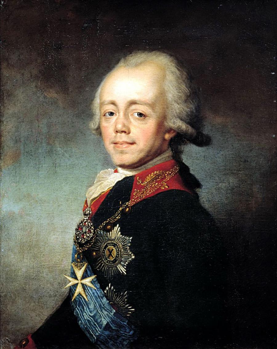 《沙皇保罗一世肖像》,斯捷潘·施楚金(Stepan Shсhukin)。图片来源:State Russian Museum