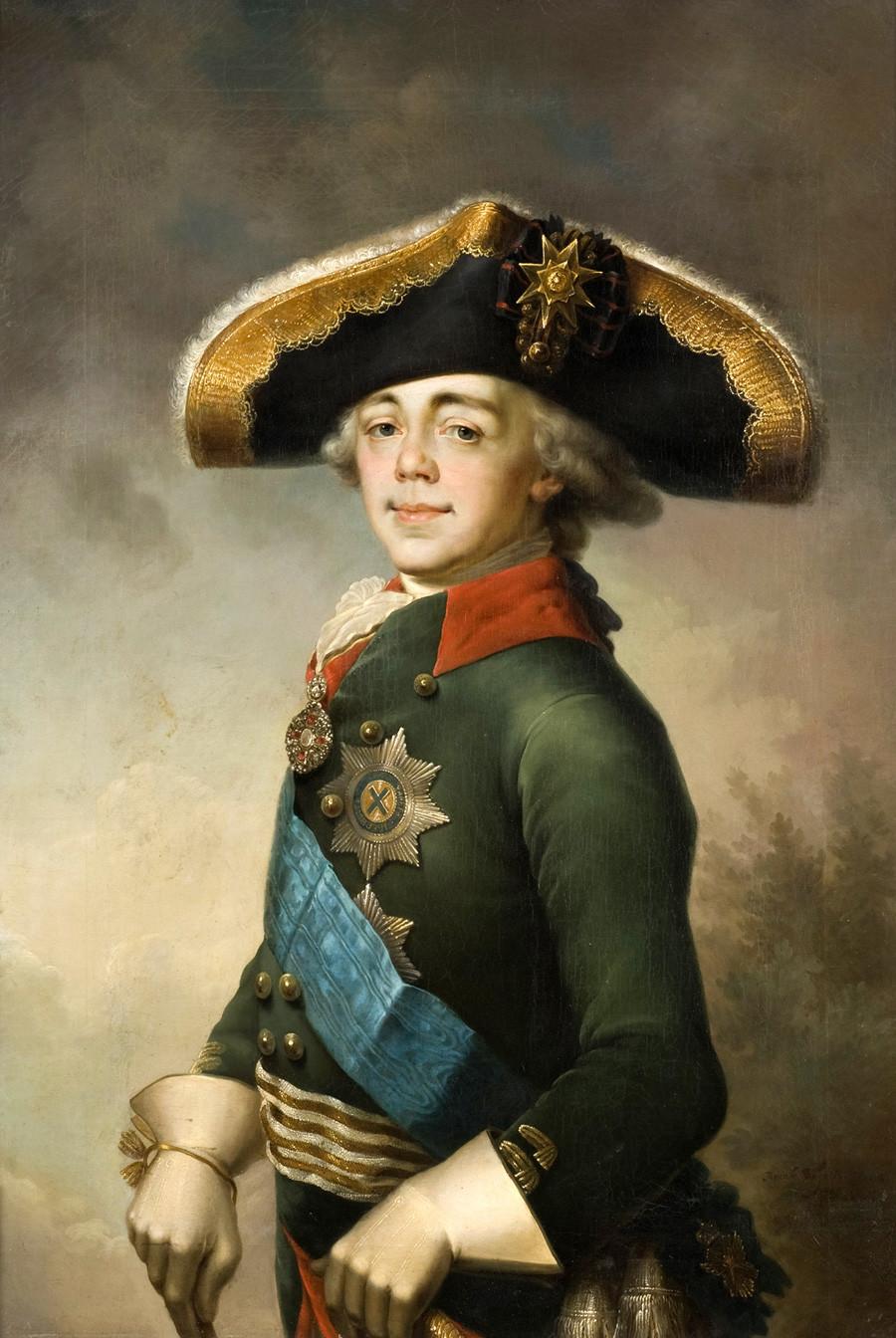 《沙皇保罗一世肖像》,弗拉基米尔•博罗维科夫斯基。图片来源:Novgorod State Museum Preserve