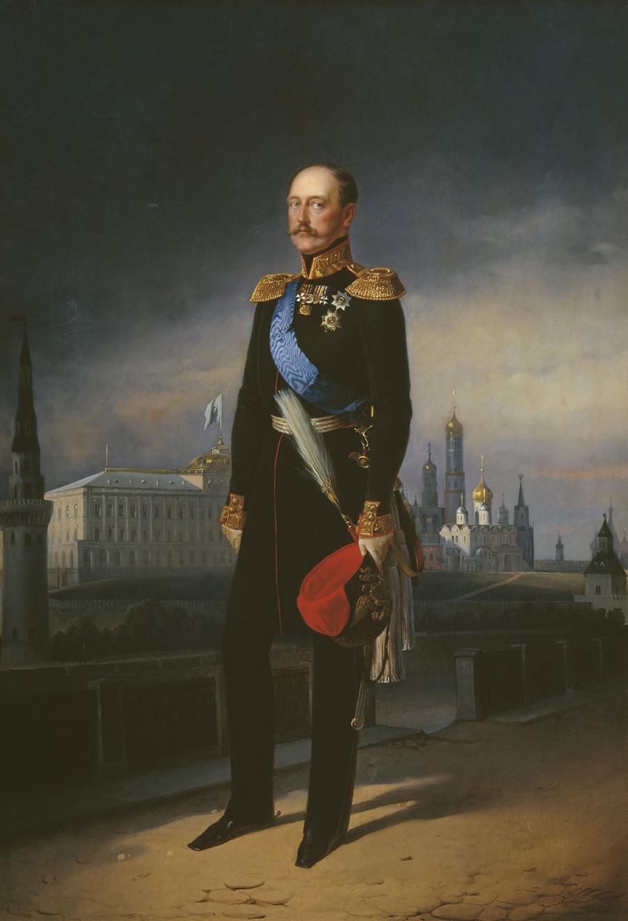 《尼古拉一世肖像》,叶戈尔·波特曼(Egor Botman)。图片来源:Alexander Pushkin Museum