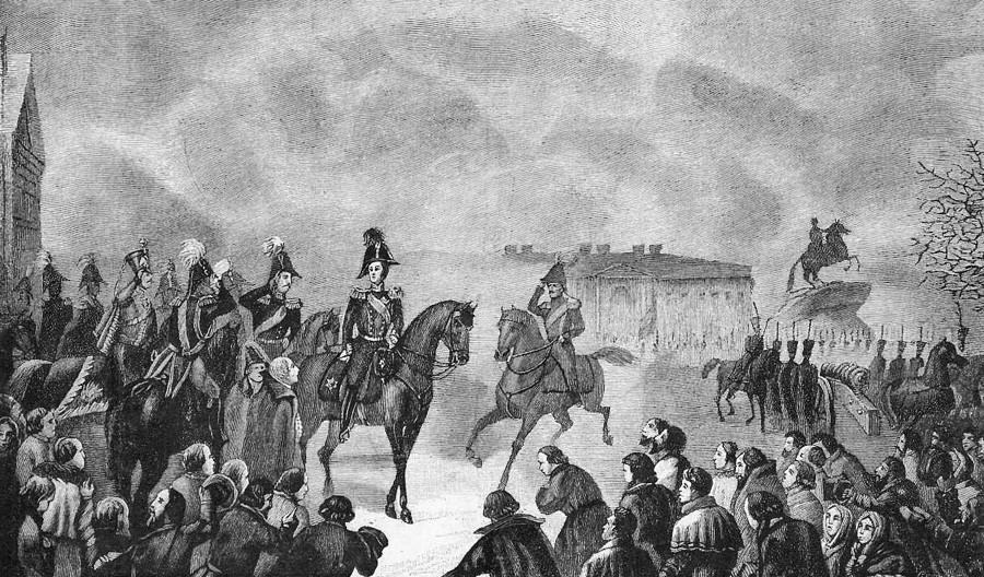 《12月14日尼古拉一世在圣彼得堡参议院广场》,1825年。图片来源:公开来源