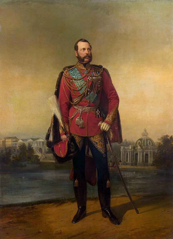 《亚历山大二世肖像》,叶戈尔•波特曼。图片来源:Hermitage Museum