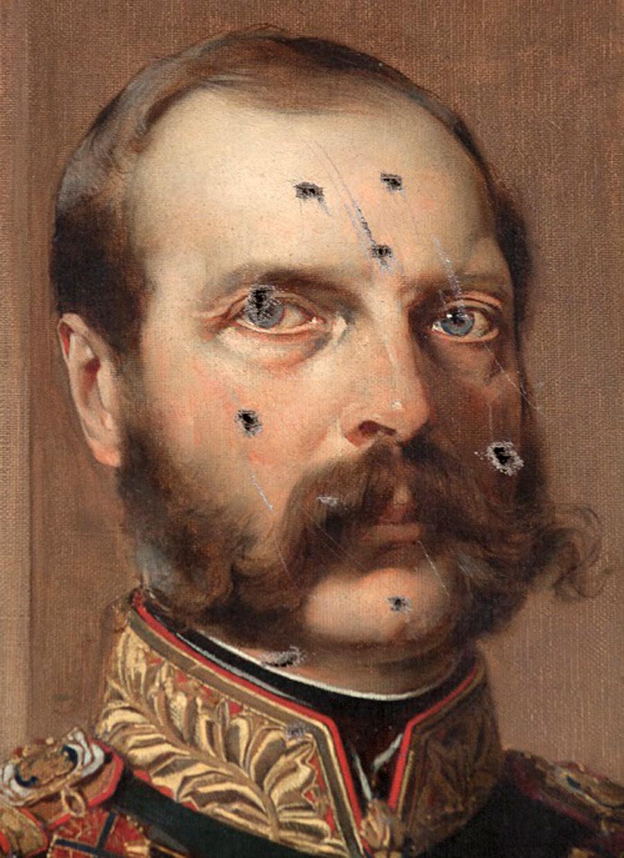 《亚历山大二世在艾尔米塔什》(遭刺刀刺伤)。图片来源:Hermitage Museum