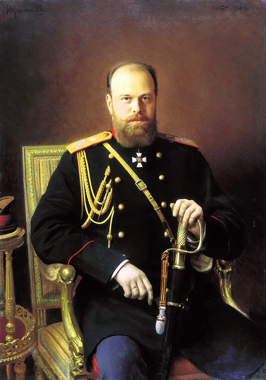 《亚历山大三世肖像》,伊万·克拉姆斯柯依(Ivan Kramskoy)。图片来源:State Russian Museum