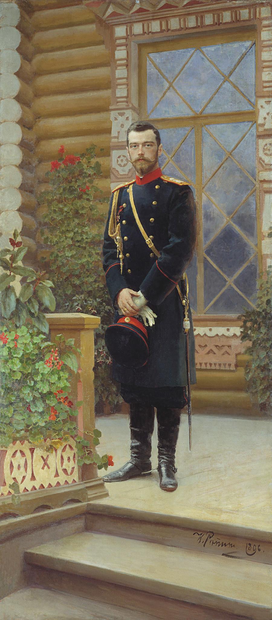 《尼古拉二世肖像》,伊利亚·列宾(Ilya Repin)。图片来源:State Historical Museum