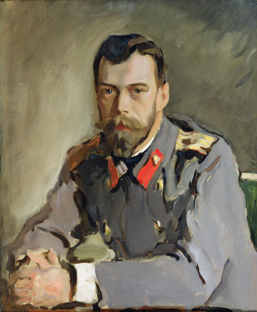 《尼古拉二世肖像》,瓦连京·谢罗夫。图片来源:State Tretyakov Gallery