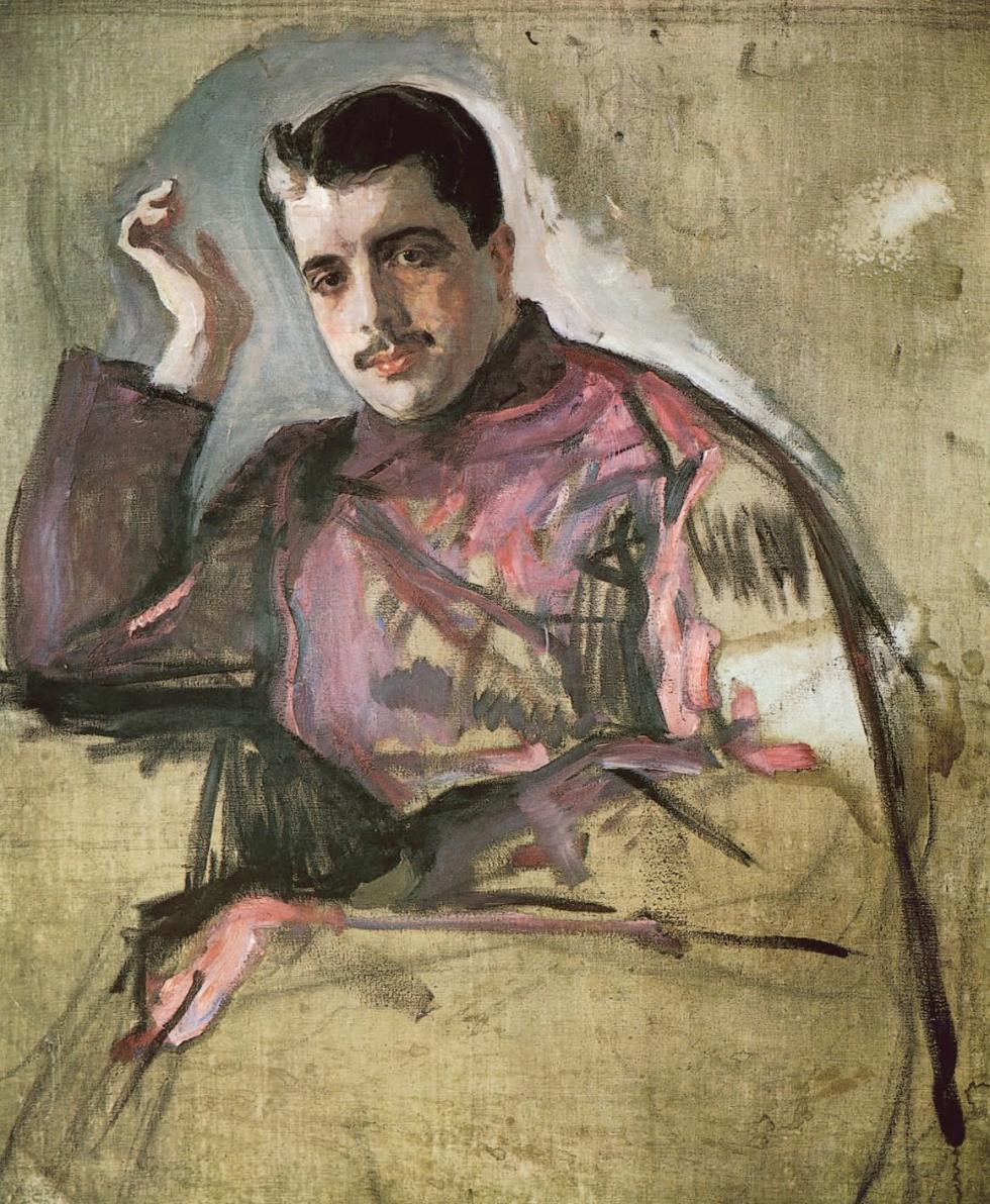 谢尔盖·佳吉列夫肖像,画家瓦连京•谢罗夫(Valentin Serov)。图片来源:State Russian Museum