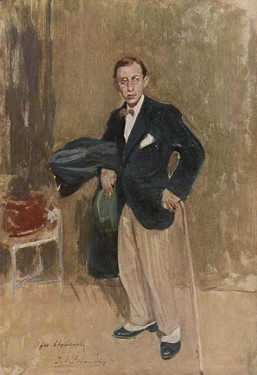 伊戈尔·斯特拉文斯基肖像,画家Jacques-Emile Blanche。图片来源:Mary Evans Picture Library/Global Look Press