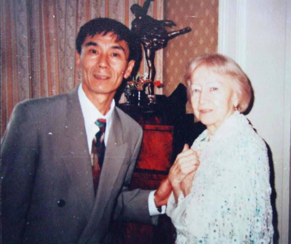 肖苏华与加琳娜·乌兰诺娃。