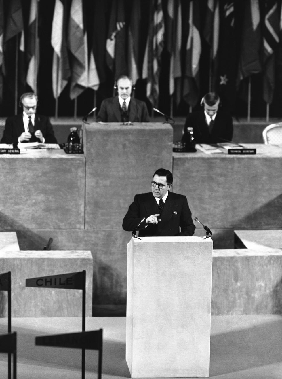 苏联驻联合国大使安德烈·葛罗米柯。 图片来源:AP