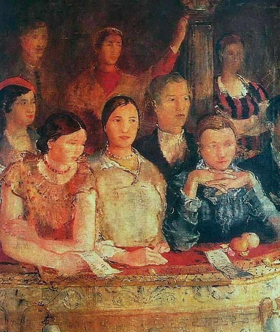 左侧部分:剧院。 来源:Yuri Pimenov/Yekaterinburg Museum of Fine Arts