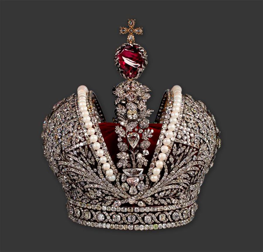 俄罗斯帝国皇冠。图片来源: Gokhran of Russia