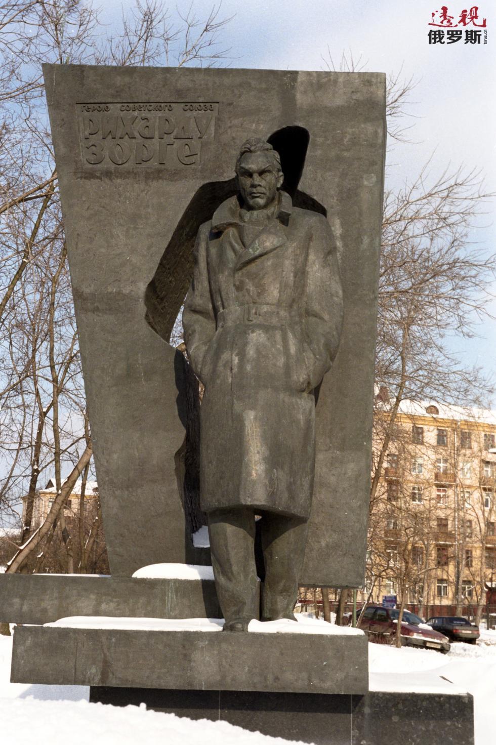 位于莫斯科的佐尔格纪念碑。图片来源:俄新社