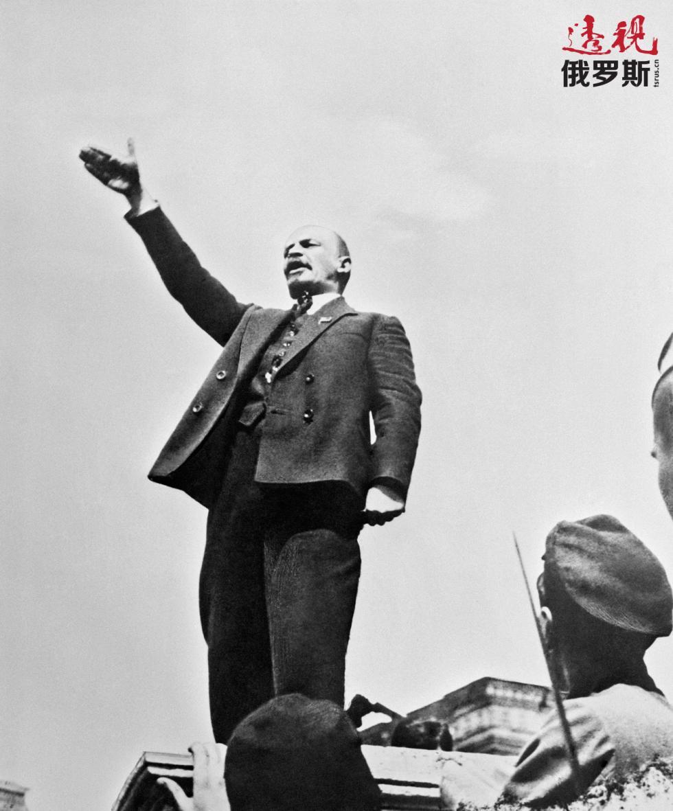 1919年5月1日。列宁在莫斯科红场发表讲话。 图片来源:塔斯社