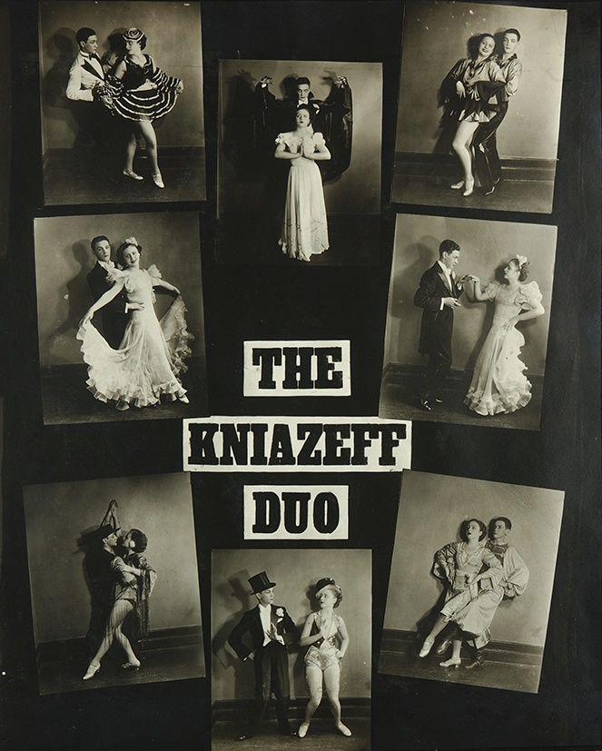 克尼亚泽夫(Kniazeff)夫妇交际舞的广告画。 图片来源:ebay.com