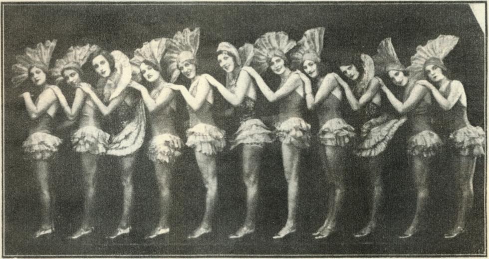 兰心大戏院的索科利斯基芭蕾舞团。 图片来源:弗拉基米尔·日加诺夫的图书《俄罗斯人在上海》(1936年)。