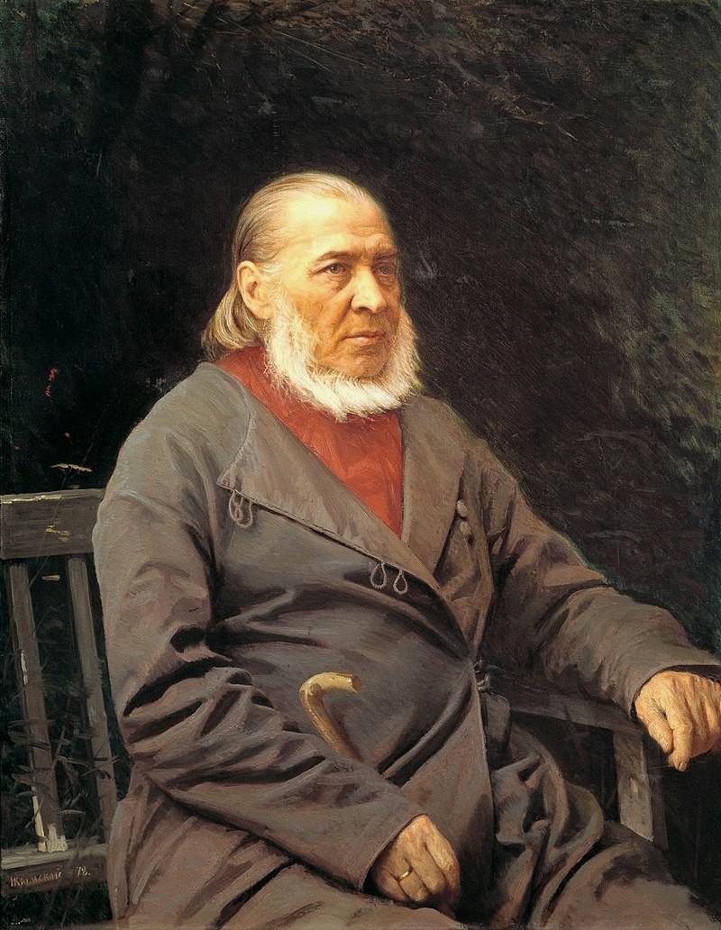 《谢尔盖•阿克萨科夫的画像》 ,伊凡·克拉姆斯柯依,1878年 。图片来源:公开来源