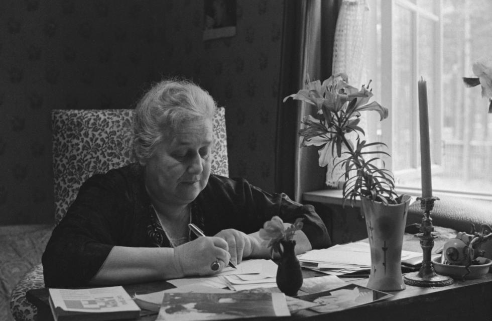 安娜·阿赫玛托娃,1964年。图片来源:Vasily Fedoseev / 塔斯社