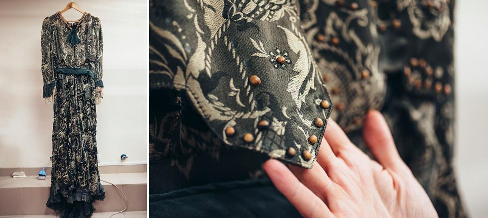 《海鸥》改编自契诃夫的戏剧。阿尔卡季娜的服装(阿尔卡季娜由伊丽娜·穆拉维约娃(Irina Muravyeva)演出)——请注意豌豆。摄影:Mark Boyarsky