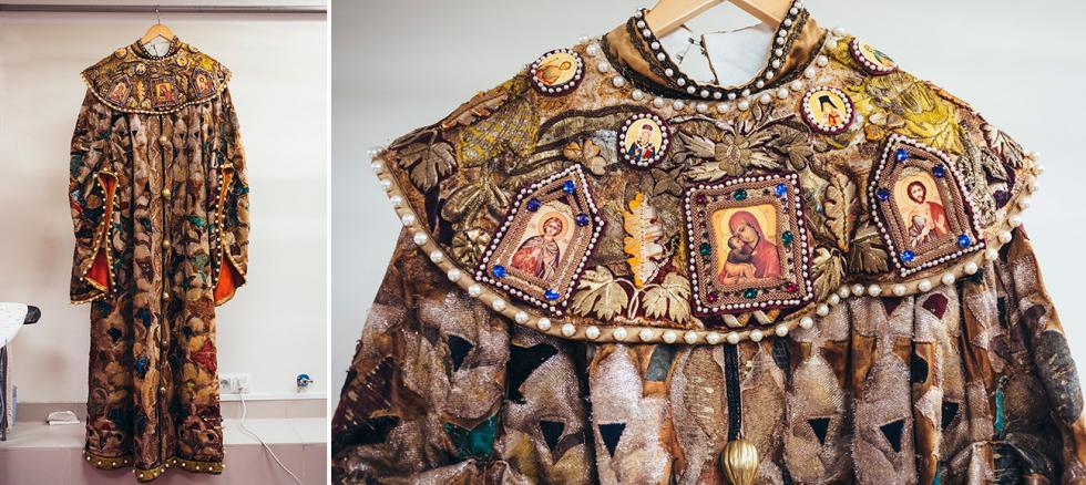 阿列克谢·托尔斯泰(Alexei K. Tolstoy)的《沙皇鲍里斯》中皇后的服装。摄影:Mark Boyarsky