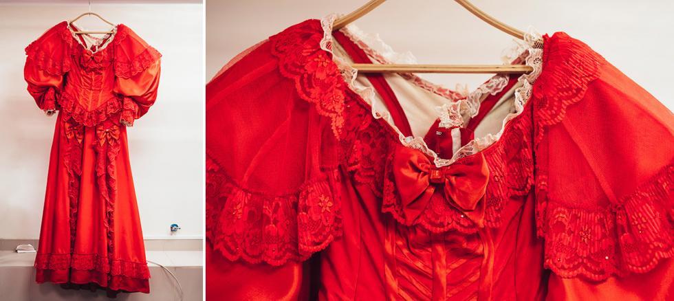 米哈伊尔·莱蒙托夫(Mikhail Lermontov)的《假面舞会》中尼娜的服装。摄影:Mark Boyarsky