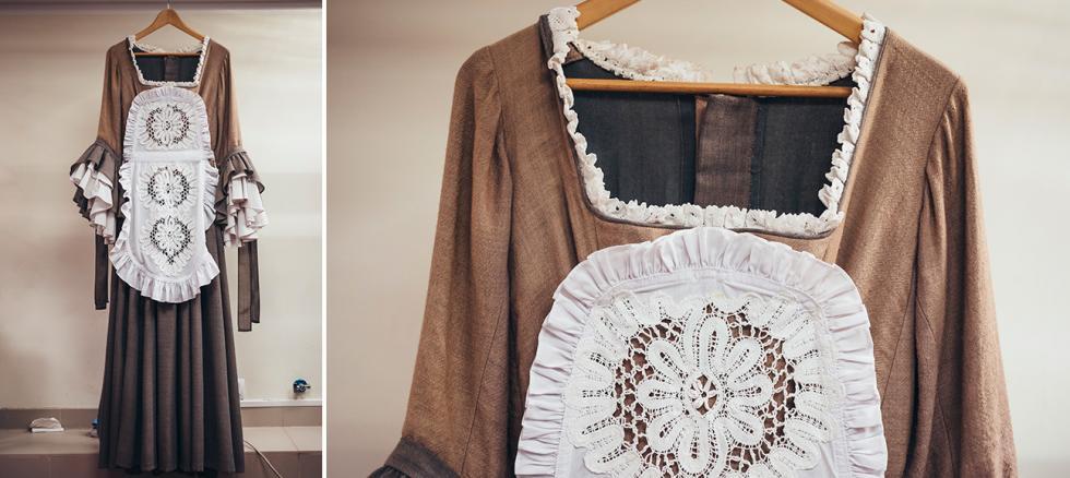 莫里哀(Molière)的《蠢病还须蛊惑医》中女仆的服装。摄影:Mark Boyarsky