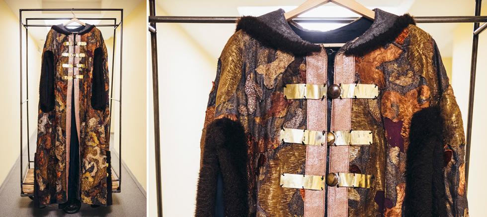 阿列克谢·托尔斯泰的《沙皇鲍里斯》中戈利岑公爵(Golitsyn)的服装。摄影:Mark Boyarsky