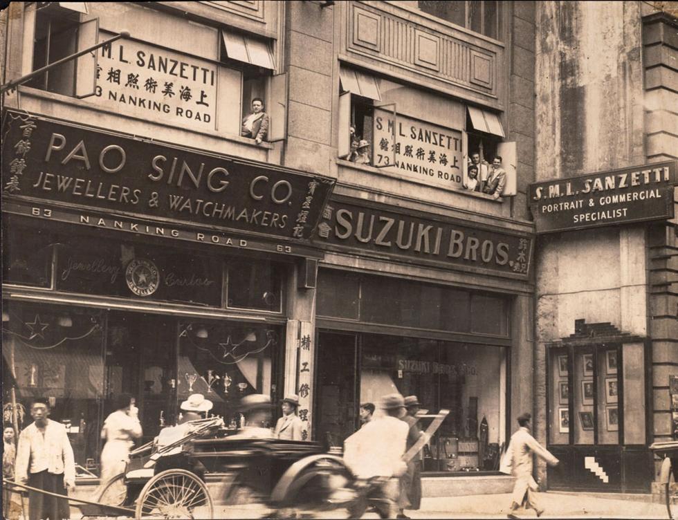 上海南京路山石梯照相馆。图片来源:Sanzetti family archive