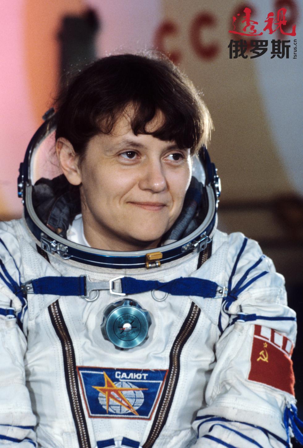 第二位女性斯韦特兰娜·萨维茨卡娅,1984年。图片来源:塔斯社