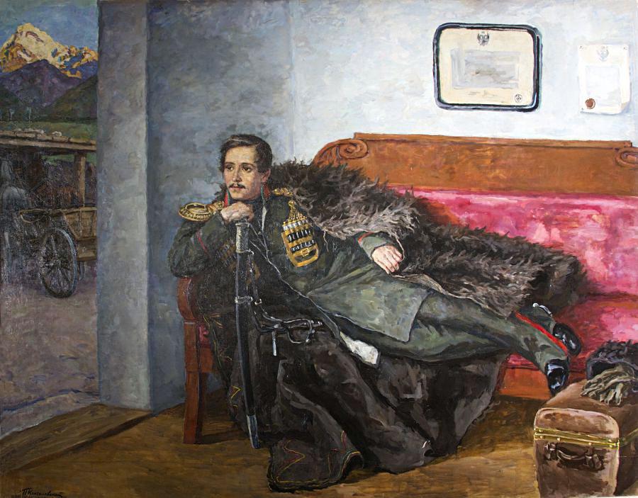 米哈伊尔·莱蒙托夫。图片来源:State literature Museum, Moscow
