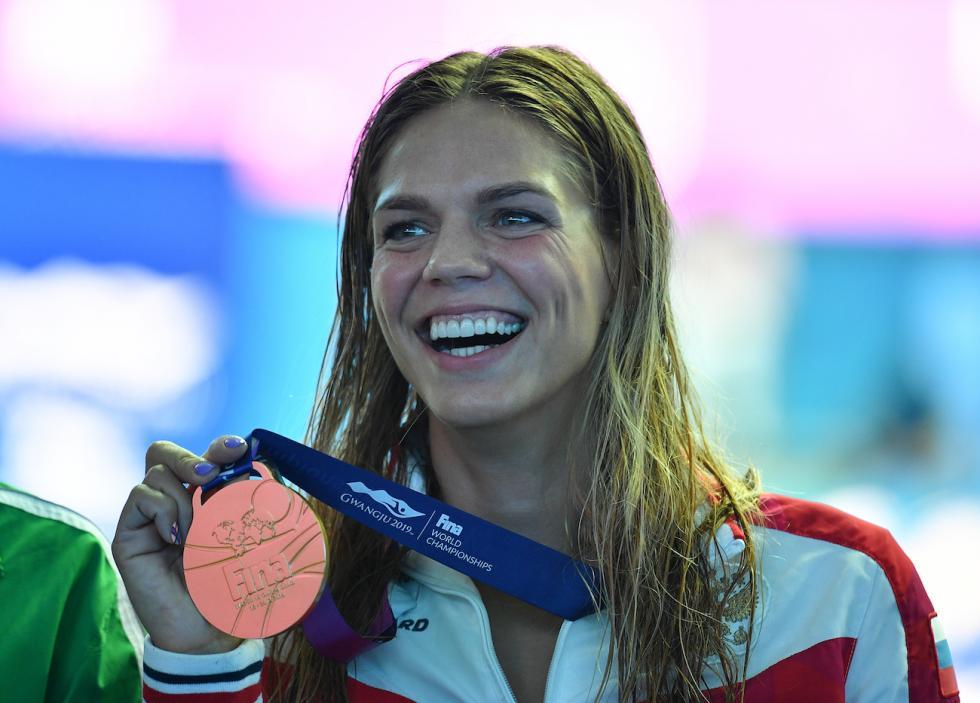 俄罗斯运动员尤利娅·叶菲莫娃。 图片来源:Aleksandr Vilf / 俄新社