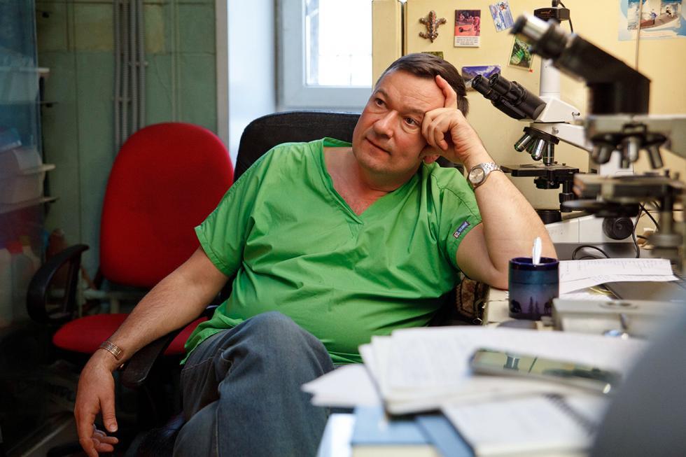 兽医学博士、爬行动物专家德米特里·瓦西里耶夫。图片来源:Ruslan Sukhushin/RBTH