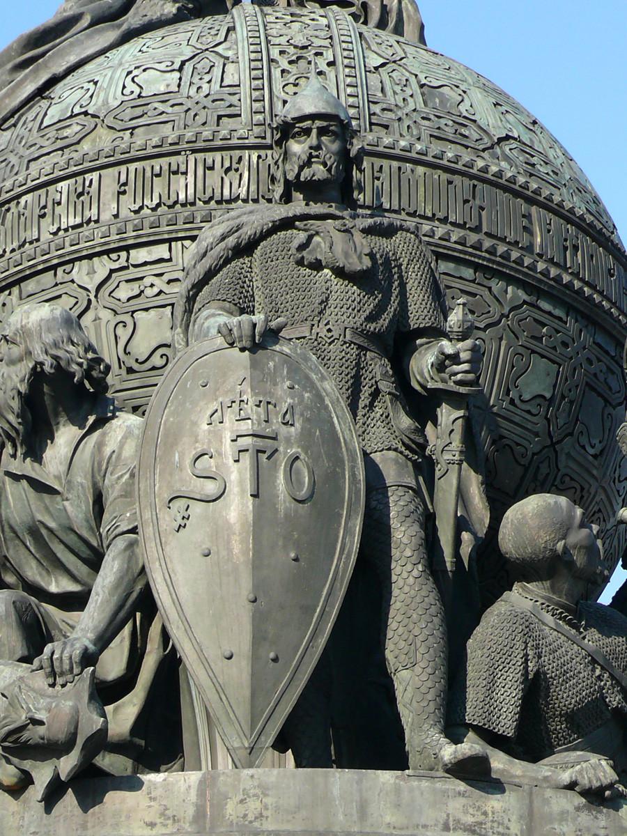 留里克纪念像。图片来源:Dar Veter (CC BY-SA 3.0)