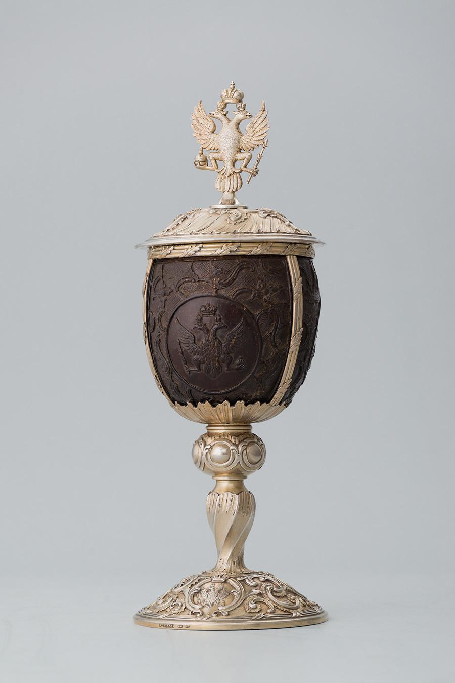 赏赐杯。法贝热商行,1890年代。