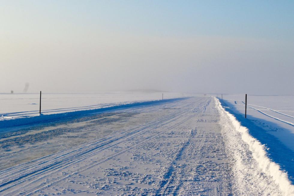 雅库特鄂毕河冰渡路 / 俄罗斯联邦雅库特紧急情况部