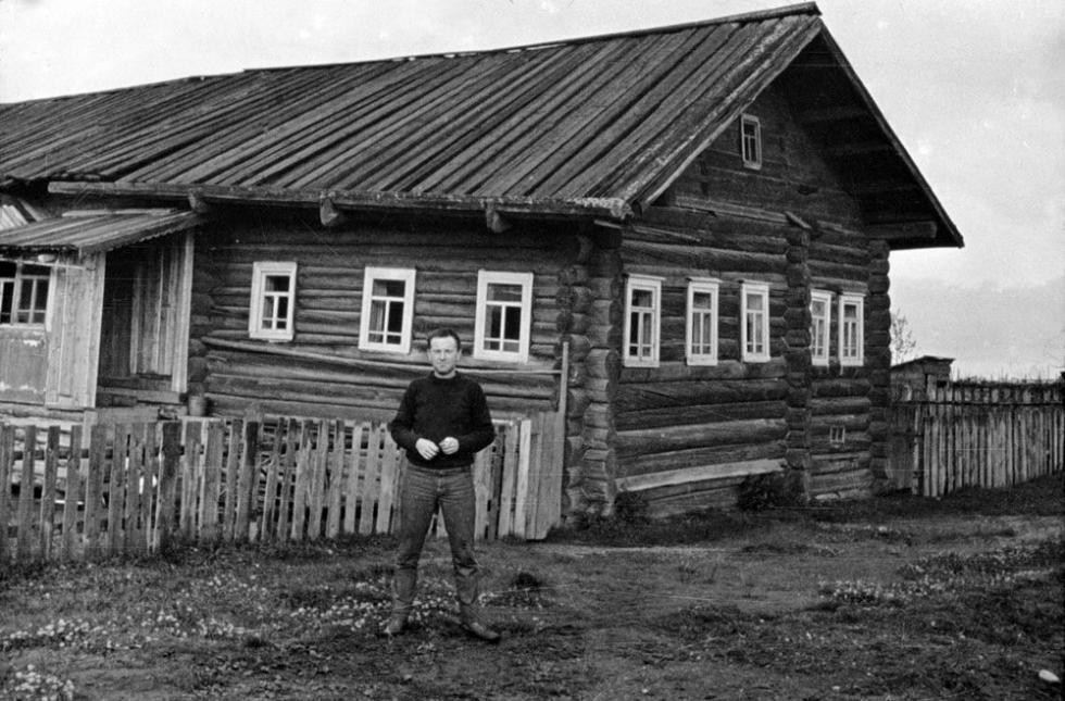 约瑟夫·布罗茨基在诺连斯卡亚村。 图片来源:Joseph Brodsky Museum in Norinskaya