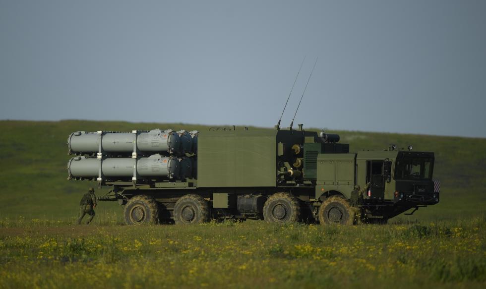 """""""巴尔""""岸基导弹系统。图片来源:Evgeniy Odinokov / 俄新社"""