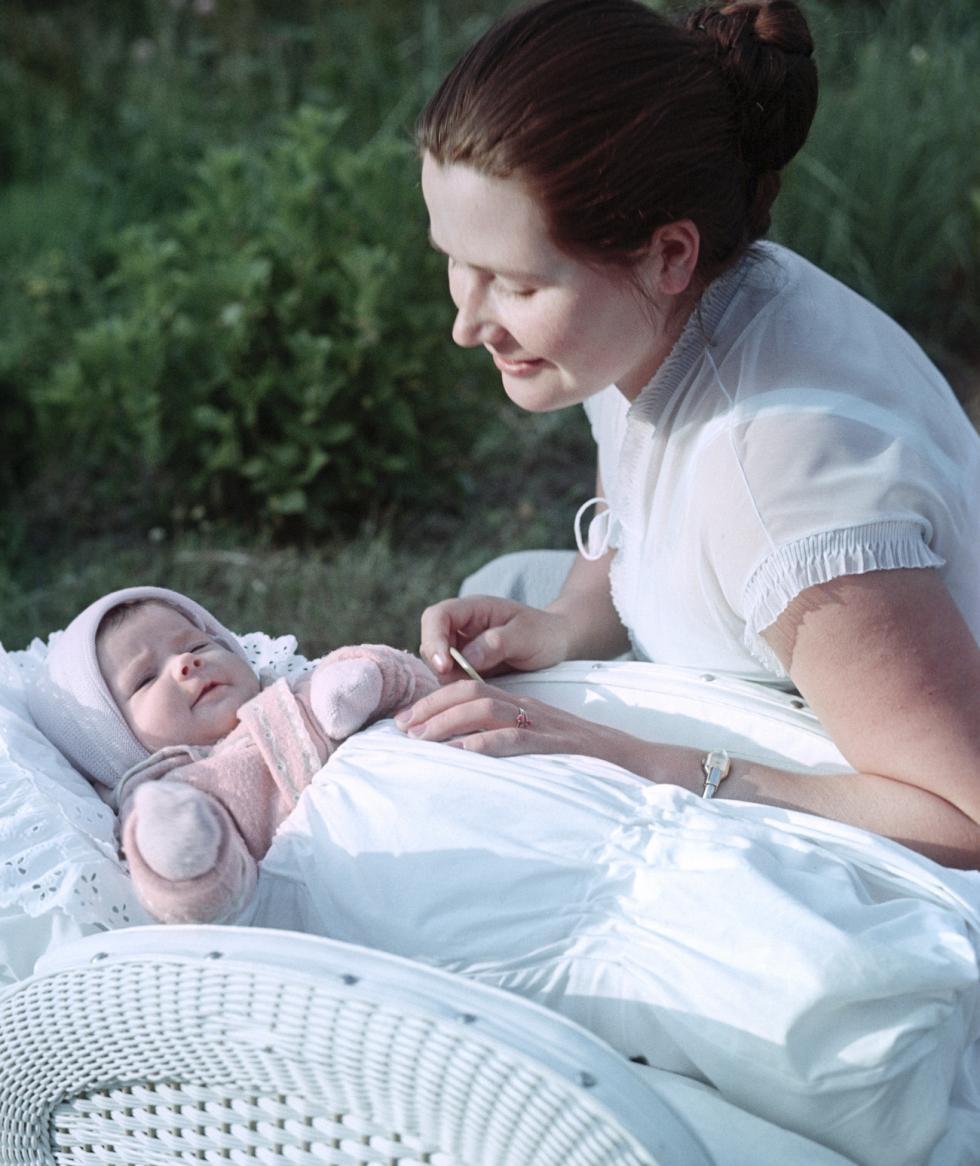 瓦莲京娜·加加林娜和女儿加莉娜。 图片来源:Yury Abramochkin / 俄新社