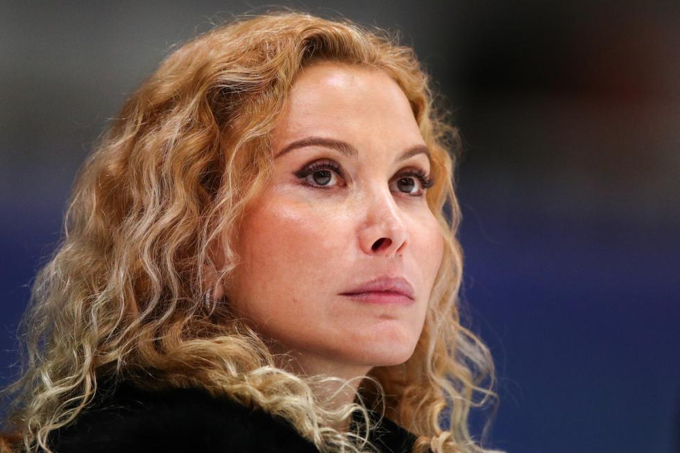 女子单人滑教练埃杰里·图特别里泽。图片来源:Sergey Bobylev / 塔斯社