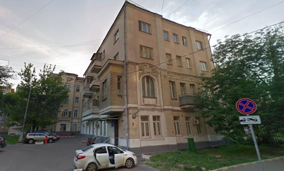 亚林胡同14号扎瓦尔金娜公寓楼。图片来源:Google
