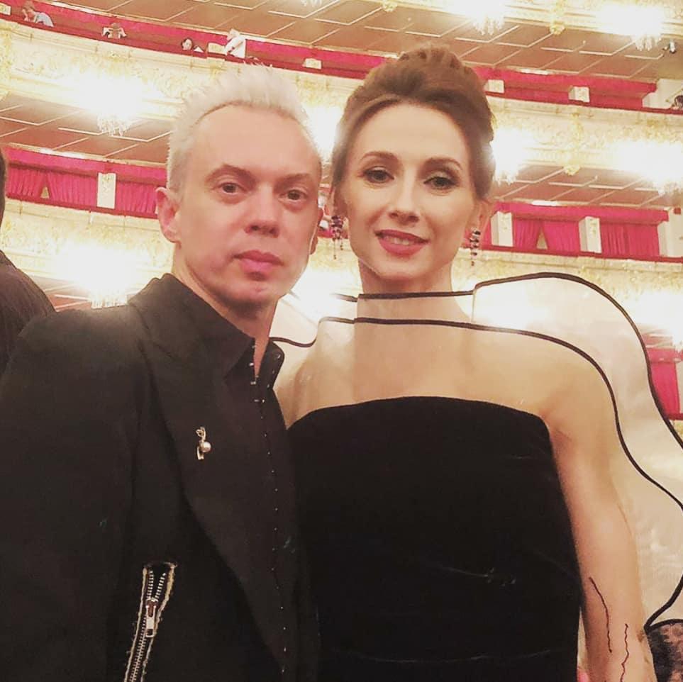 斯韦特兰娜·扎哈罗娃和弗拉基米尔·马拉霍夫 / 来源:Svetlana Zakharova的Instagram社交网络