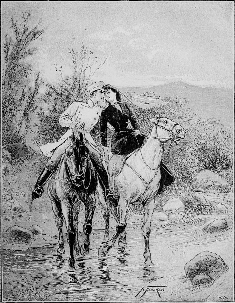 梅丽公爵小姐。V·波利亚科夫绘图。1900年。