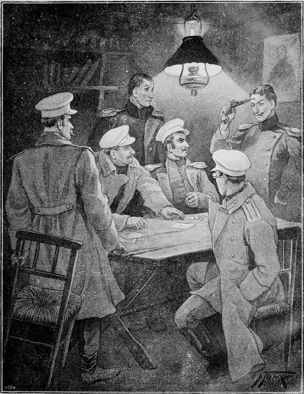 宿命论者。V·波利亚科夫绘图。1900年。