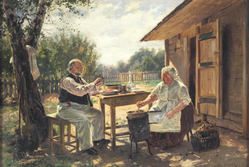 《制作果酱》,弗拉基米尔·马可夫斯基。图片来源:Tretyakov Gallery